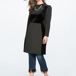 Eloquii Velvet Puff Sleeve Mini Dress
